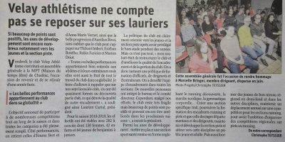 Article Le Progrès 09/12/2019